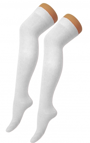 White Over Knee Socks