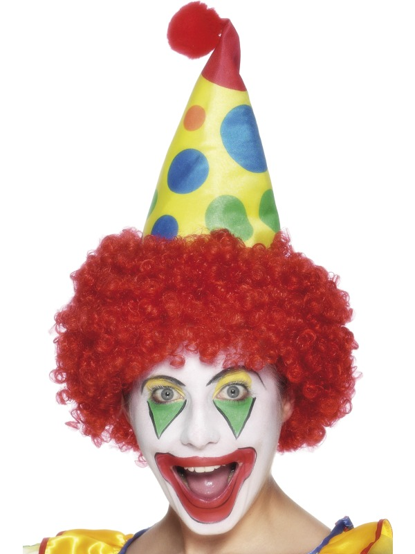 Clown hat with wig