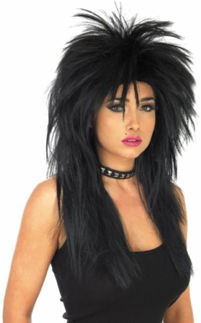 black glam rock wig