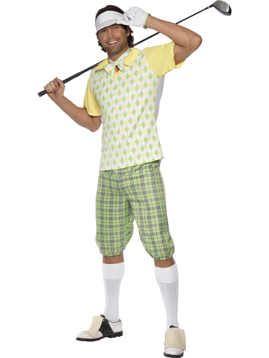 Gone Golfing Costume, Green, Yellow and White