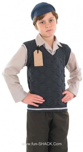 Evacuee School Boy