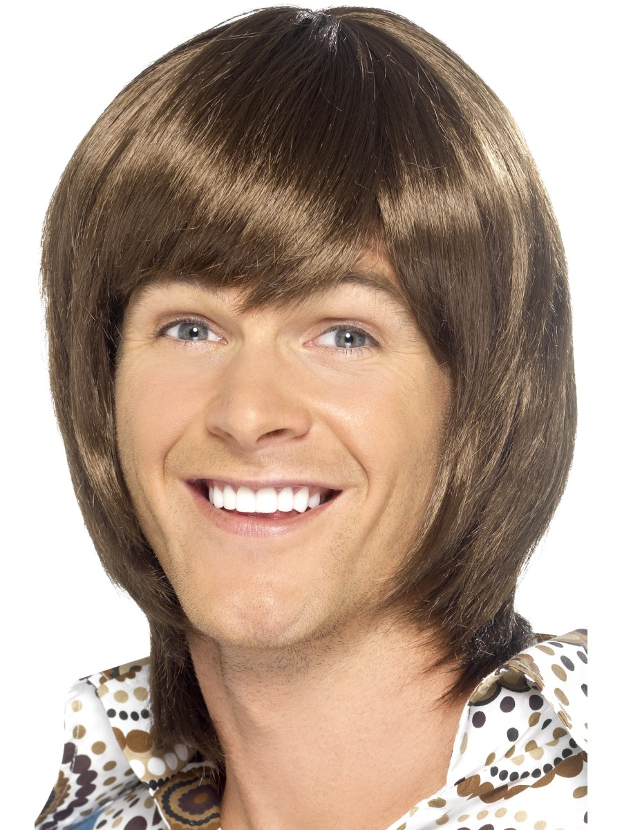 70's Heartthrob Wig, Brown