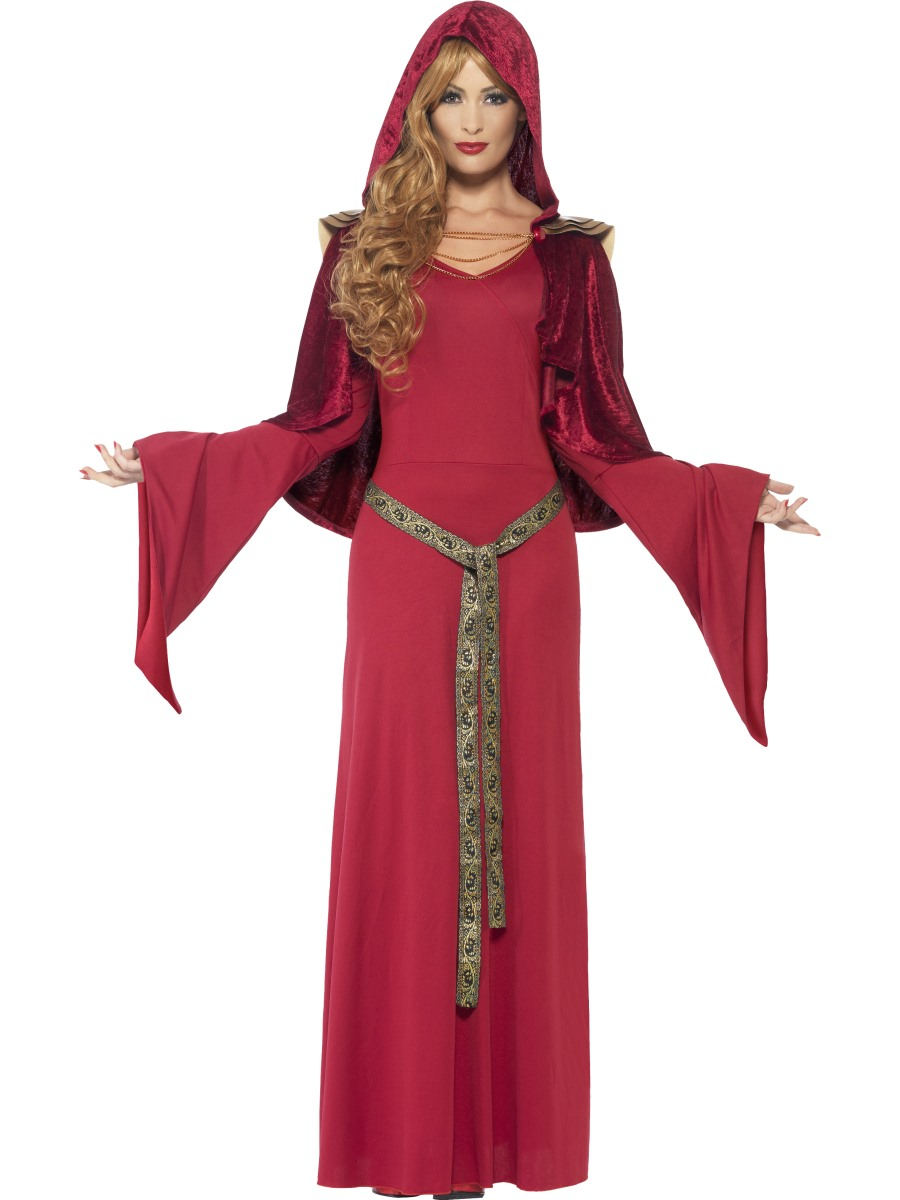 High Priestess Costume, Red. Size M .