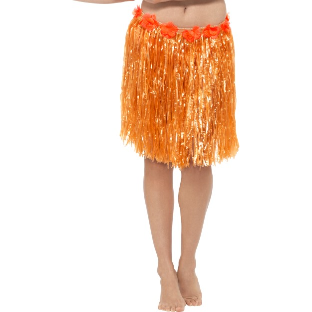 Orange Hula Skirt