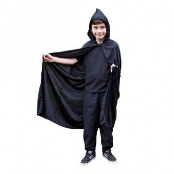 Hooded Cape, Black