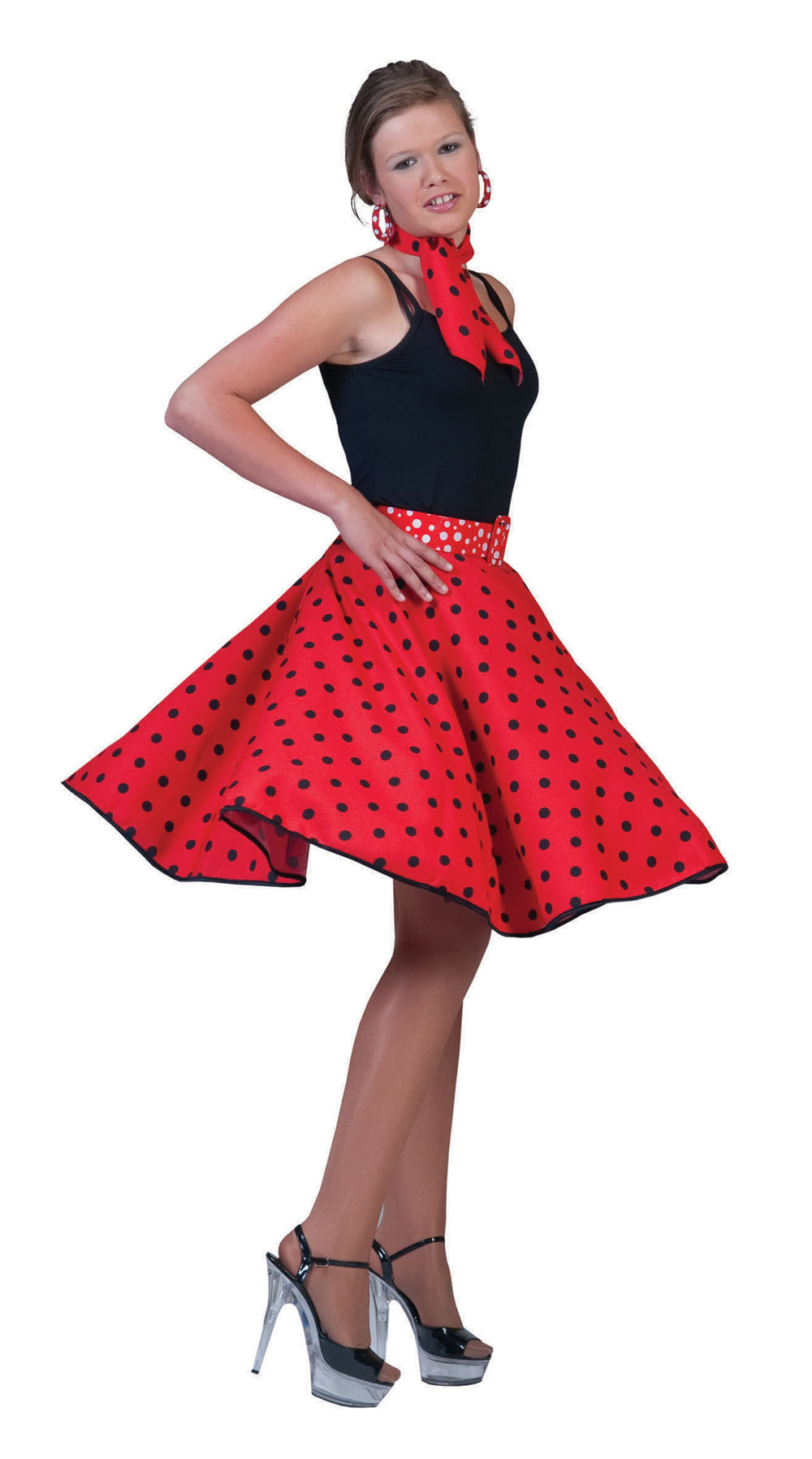 Red rock'n roll skirt