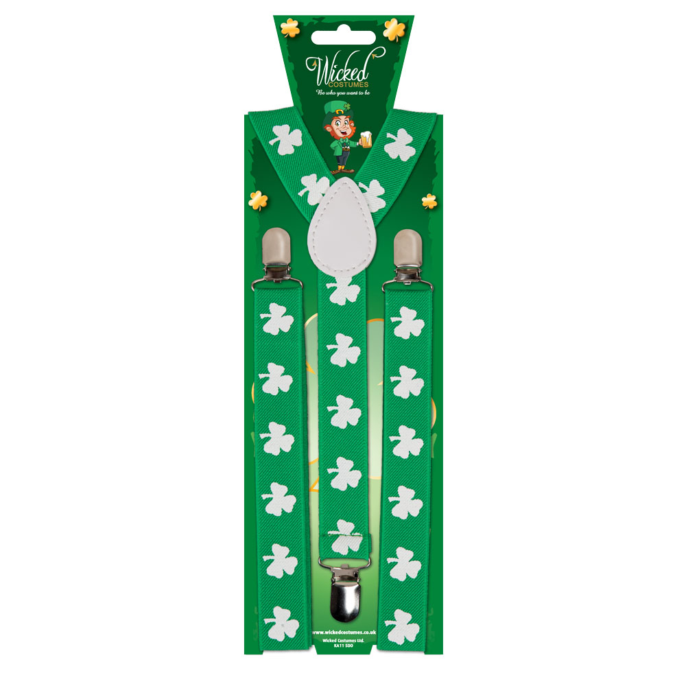 Green Clover Leprechaun Braces