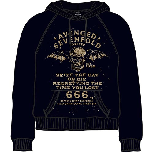 AVENGED SEVENFOLD UNISEX PULLOVER HOODIE: SEIZE THE DAY