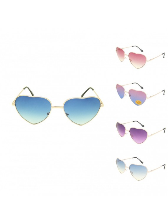 Heart Shape Metal Frame Aviator Sunglasses