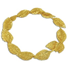 Gold Laurel Leaf Headpiece