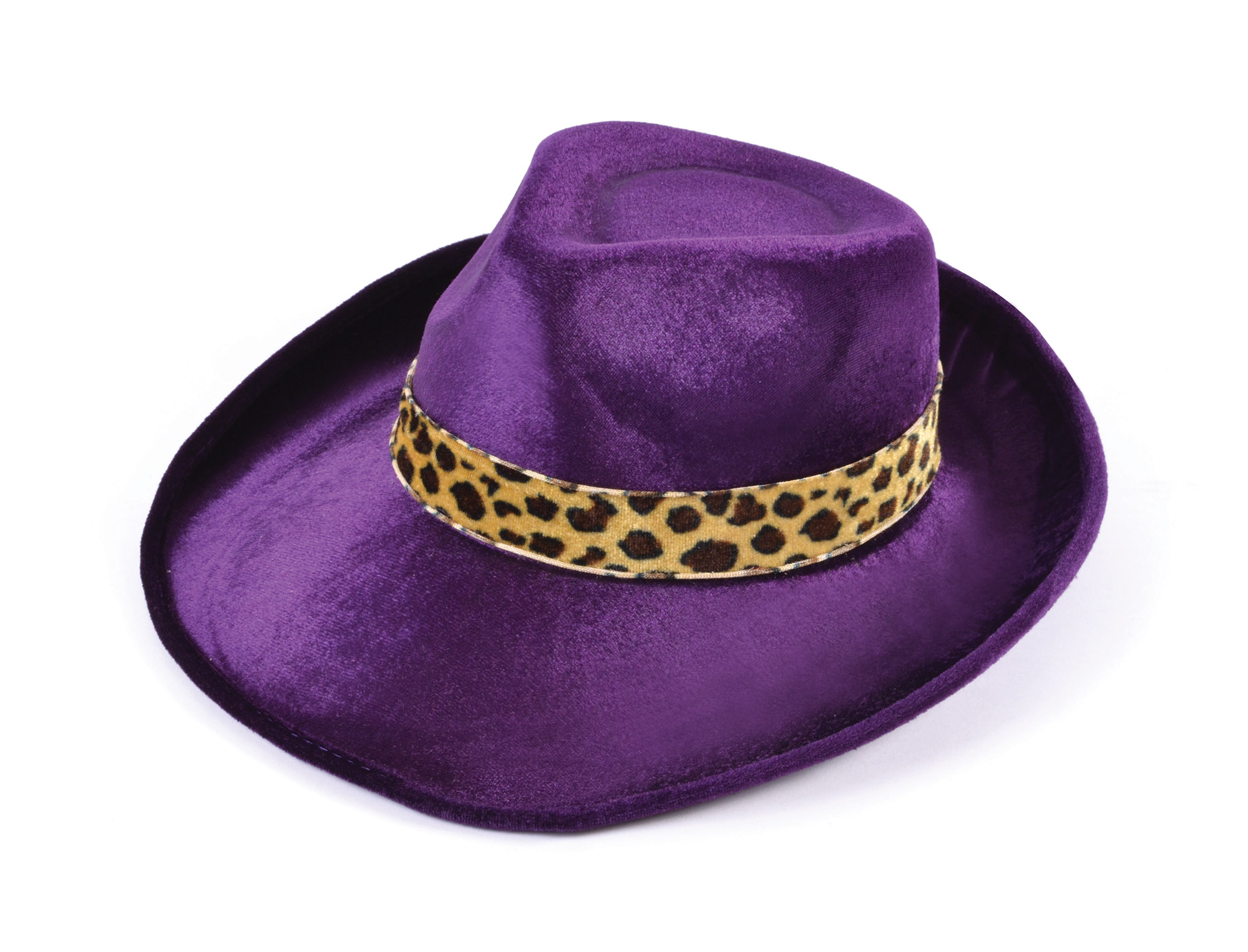 Purple and Leopard Pimp Style Hat