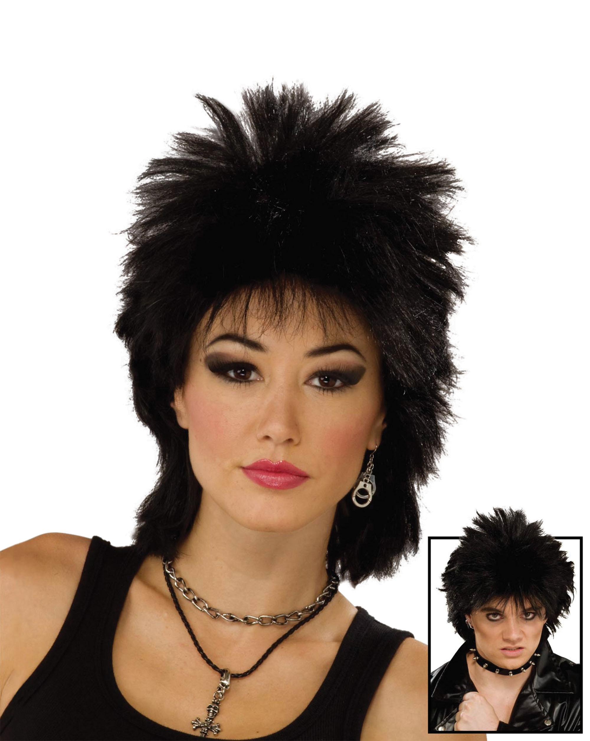 80's rock idol wig /bk