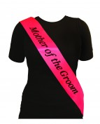 Sash Mother Of The Groom Hot Pink