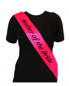 Sash Mother Of The Bride Hot Pink