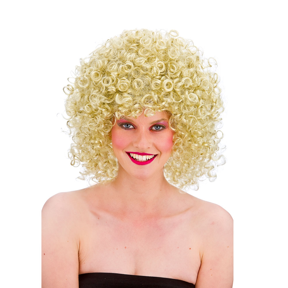 80s Disco Perm Blonde Wig