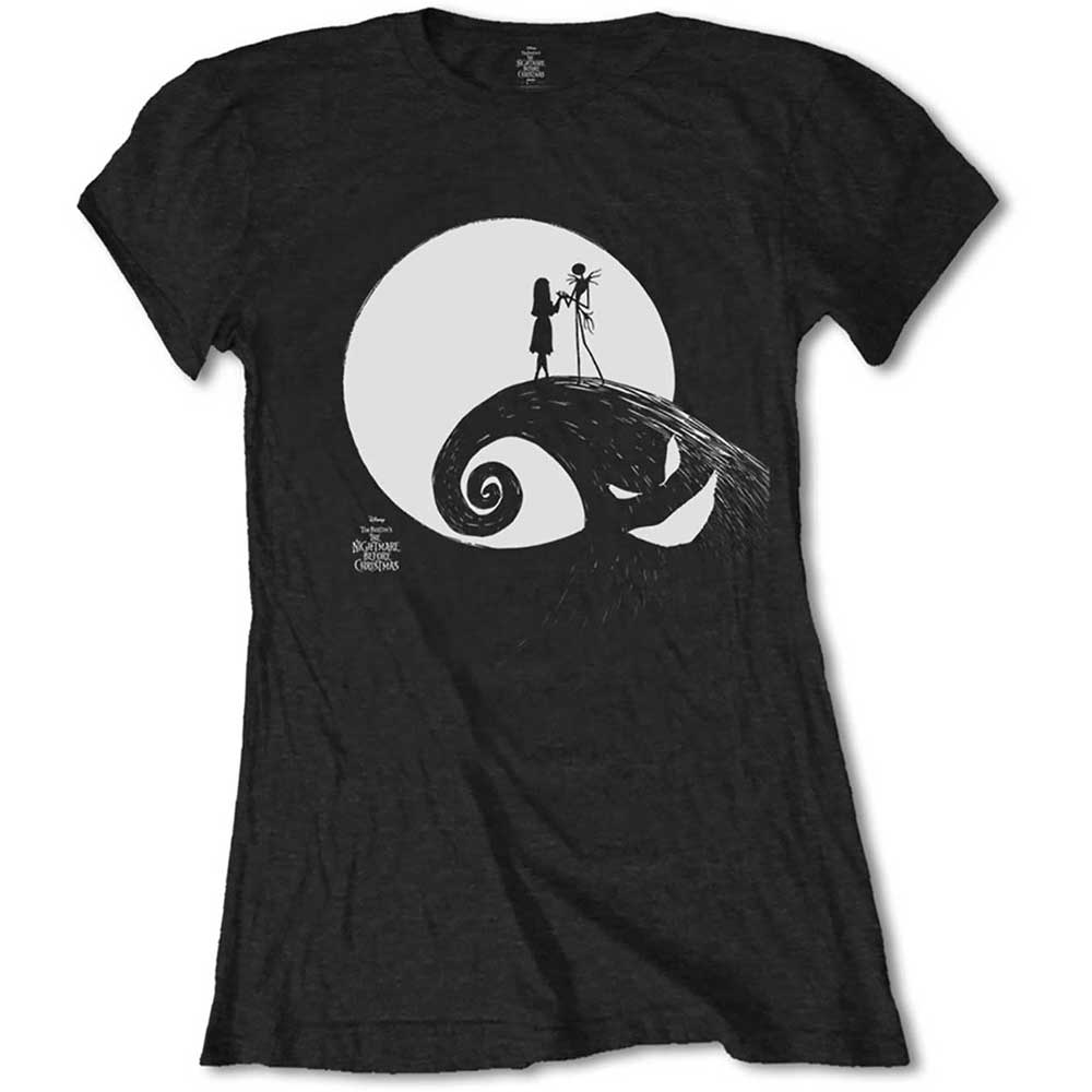 The Nightmare Before Christmas Ladies Tee: Moon