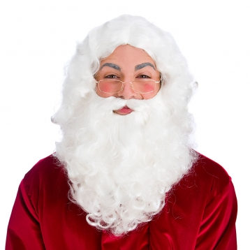 Deluxe Santa Set (wig, beard, glasses)