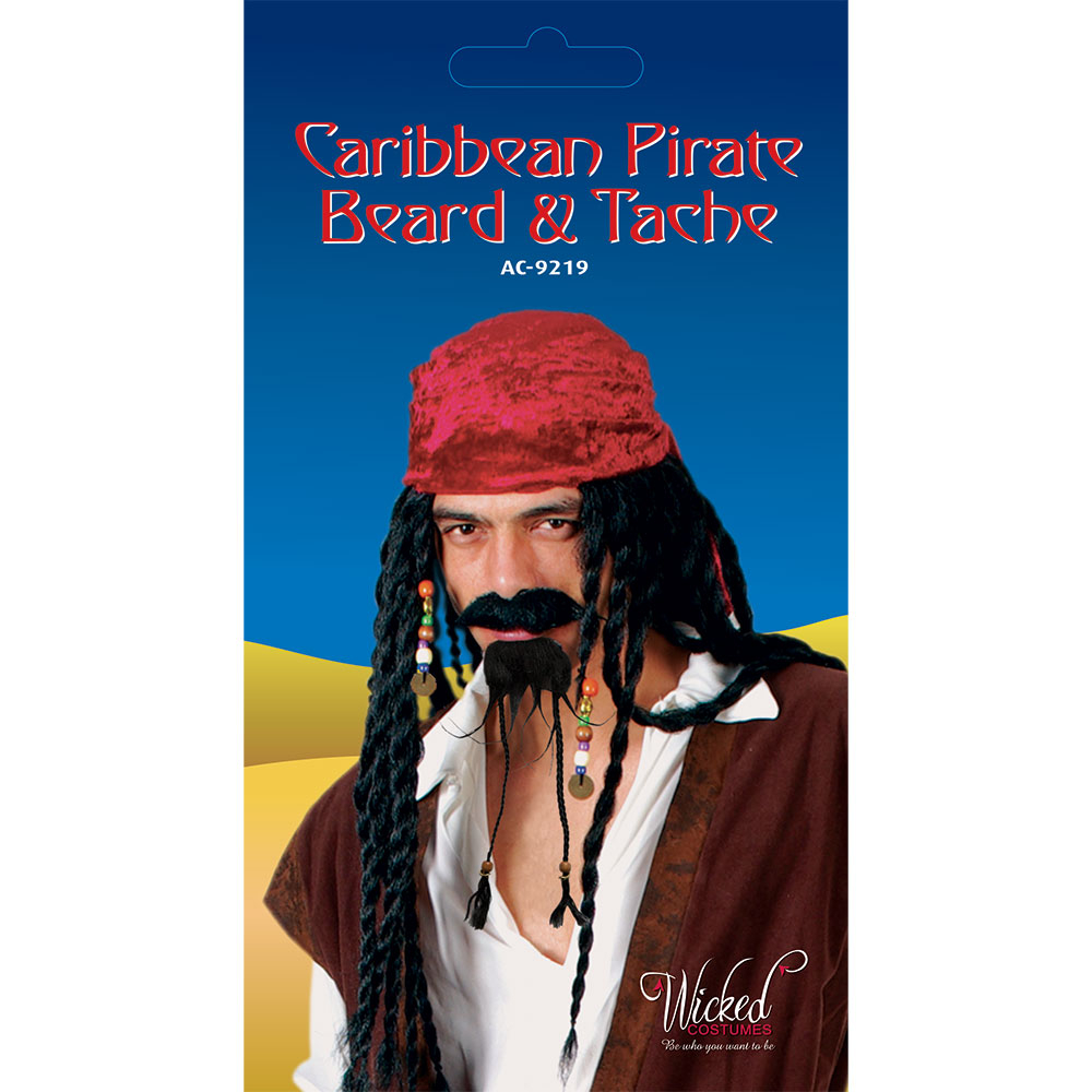 Caribbean Pirate Beard and Tash