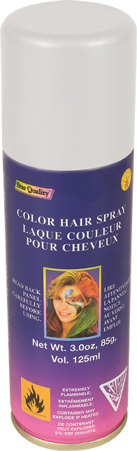White Color Hair Spray