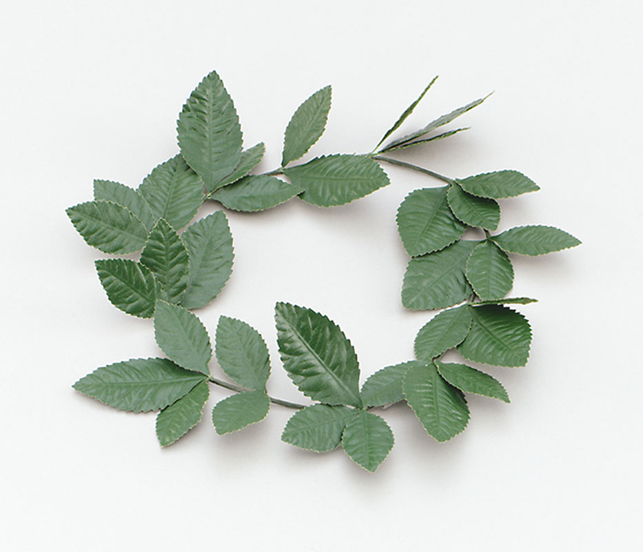 Green Laurel wreath headband