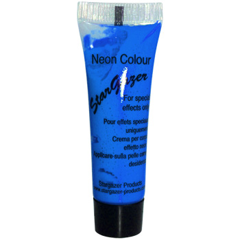Neon Blue UV Reactive Face and Body Paint