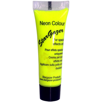 Neon Yellow UV Reactive Face and Body Paint