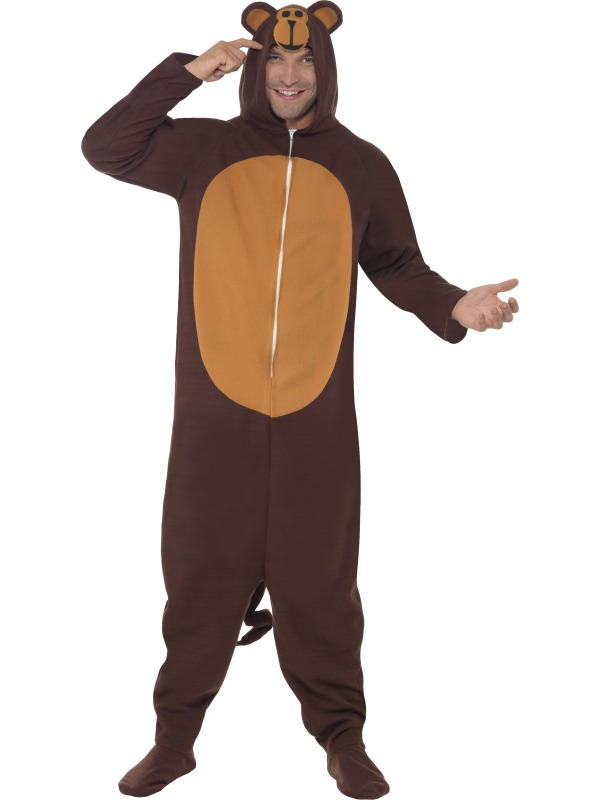 Monkey Costume, All In One With Hood