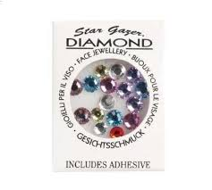 Coloured Diamonte Gems