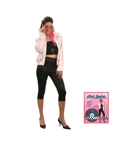 pink ladies jacket and capri pants