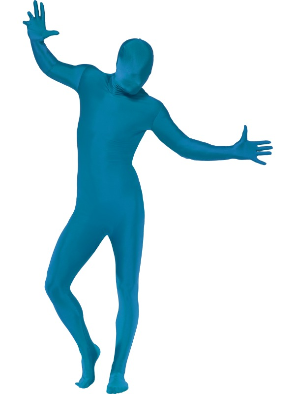 Second Skin Suit, Blue, With Bumbag, Concealed Fly and Under Chi