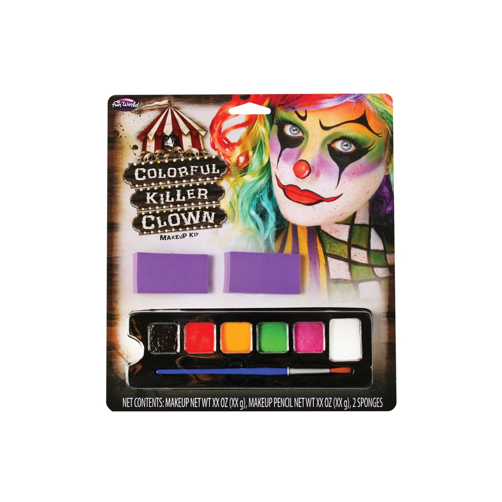 Colorful Killer Clown Makeup Palette