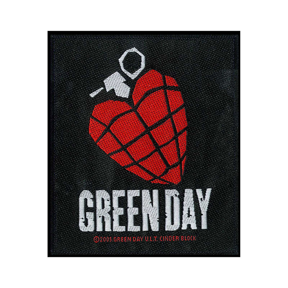 Green Day Woven Patch[Heart Grenade]