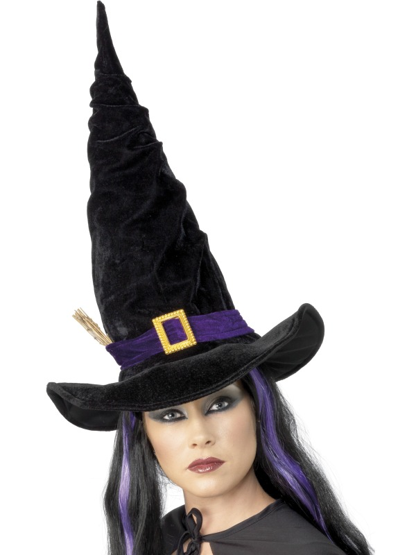 Witch Hat Black with Purple Belt