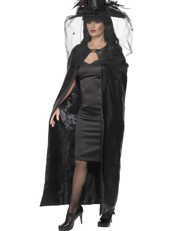 Deluxe Witches Cape, Black