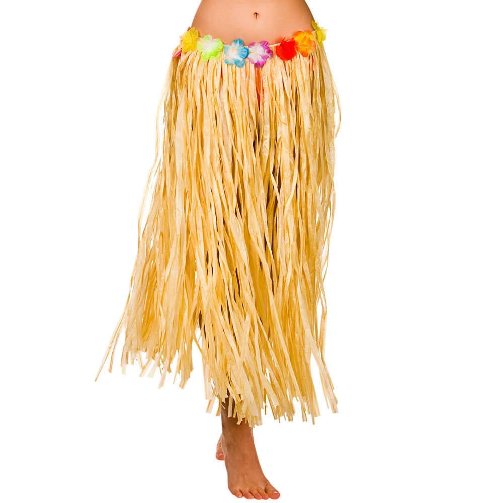 Natural Hawaiian Grass Skirt 80cm