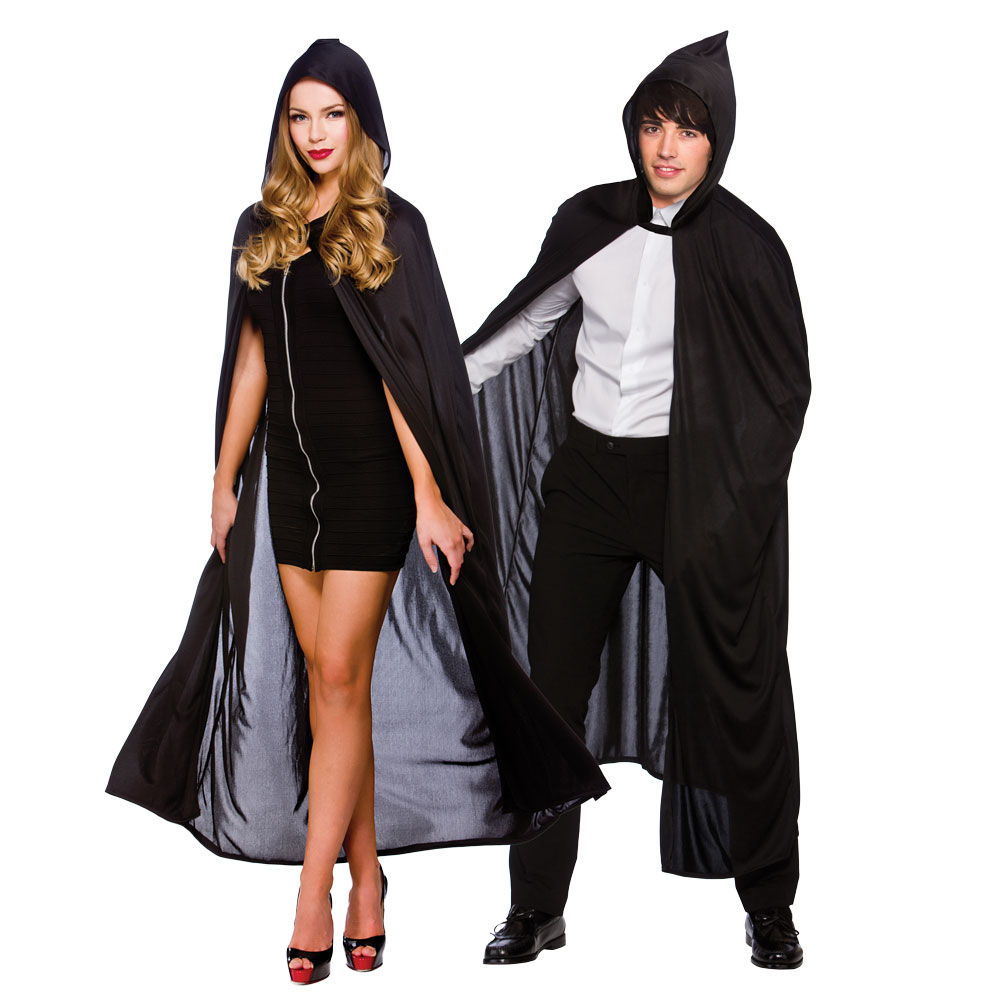 Adult Hooded Cape Black