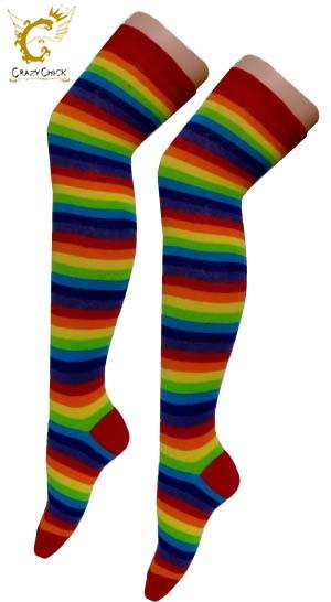 Rainbow Over Knee Socks