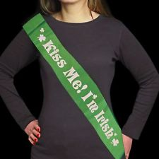 Kiss Me I'm Irish Sash