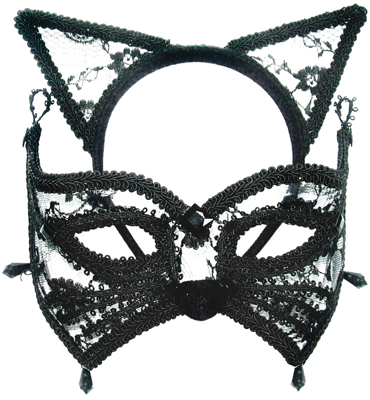 Cat Mask + Ears On Headband