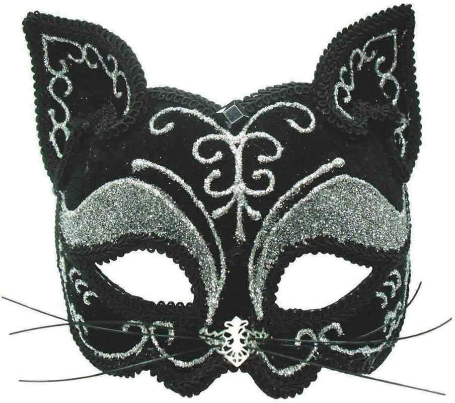 Black Cat Mask Decorative