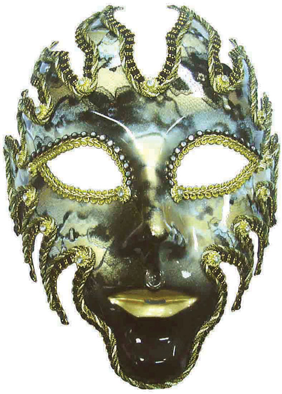 Glazed Full Face Mask. Black/Gold