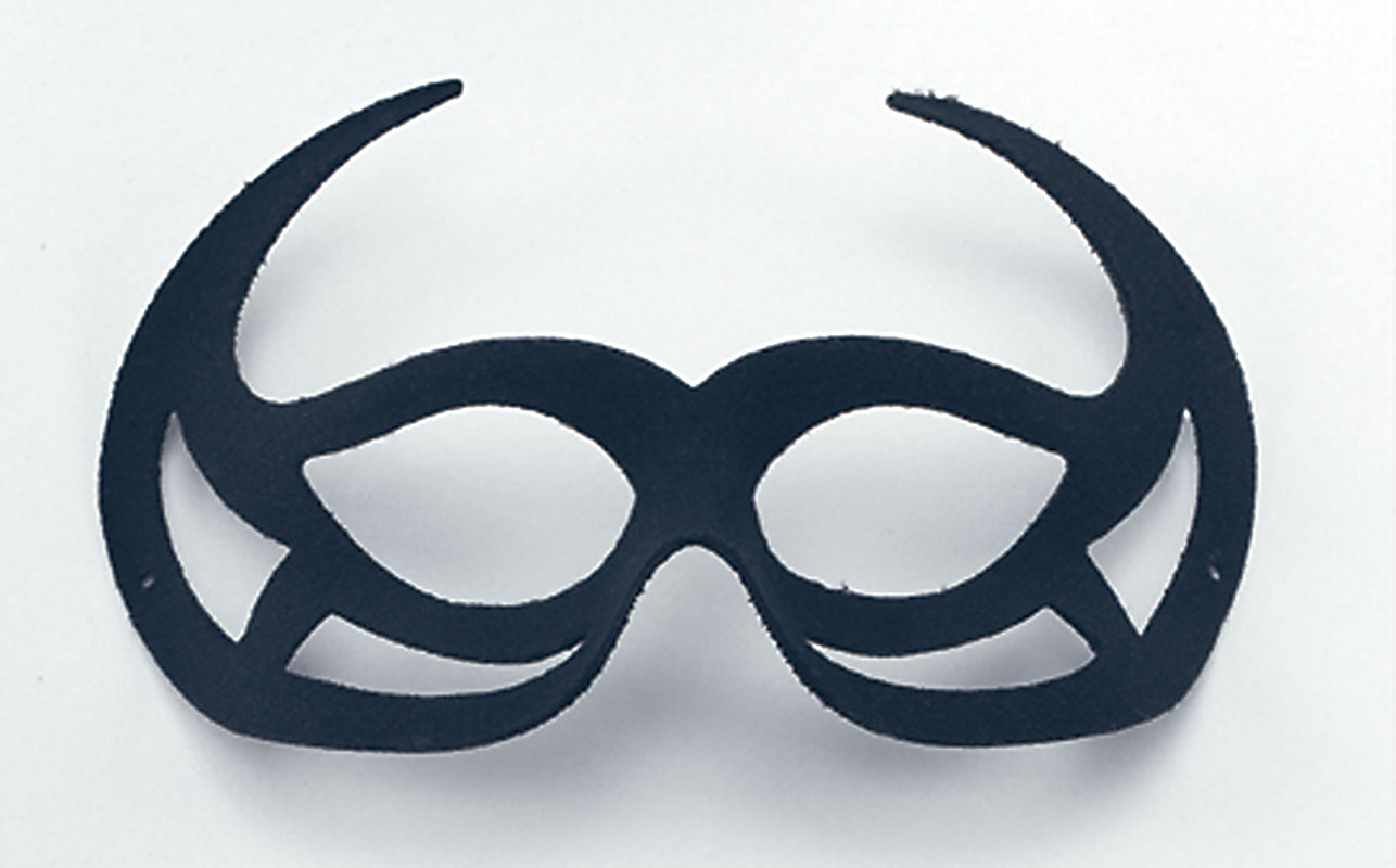 Black Demon Domino Eye Mask