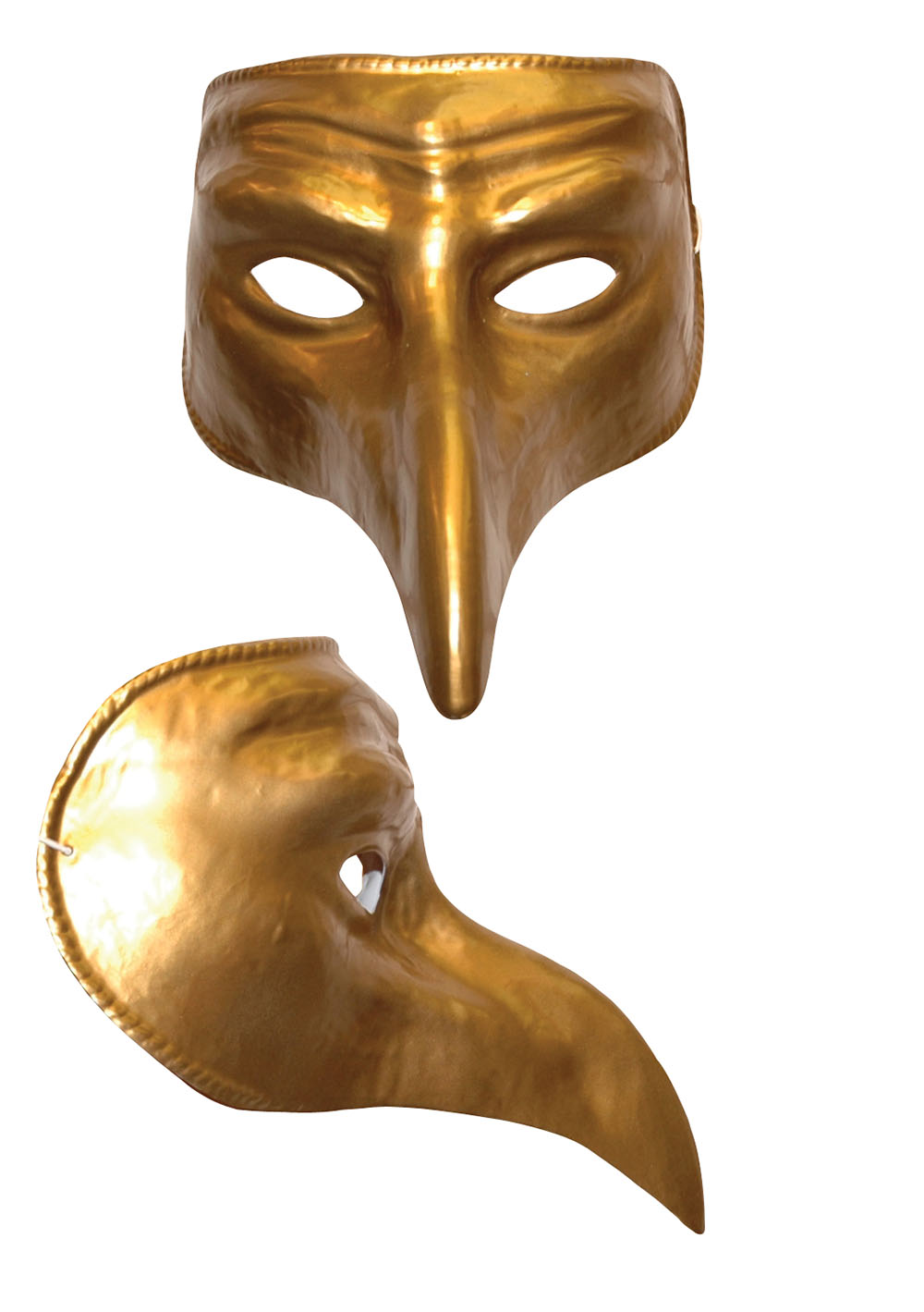 Gold Comedy mask.