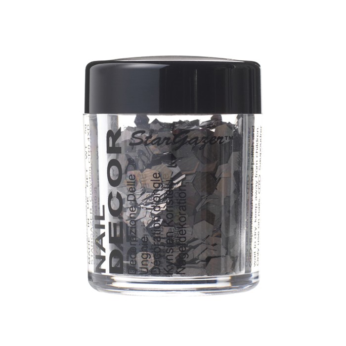 Black Large Flake Glitter
