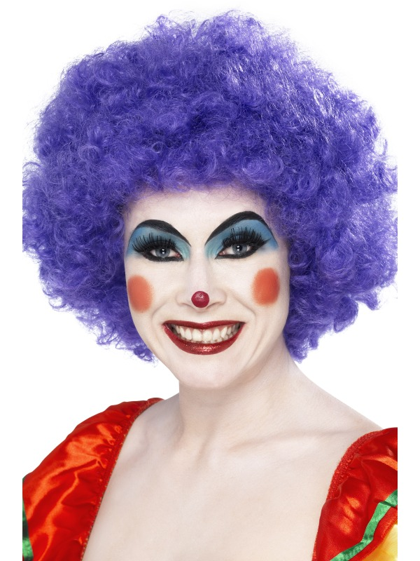 Crazy Clown Wig Purple