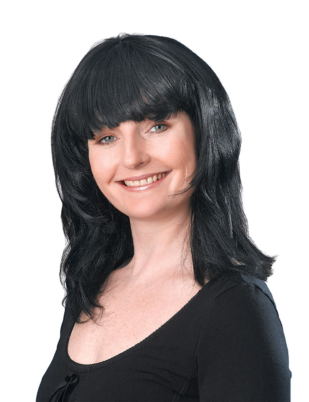 Black Layered Female wig