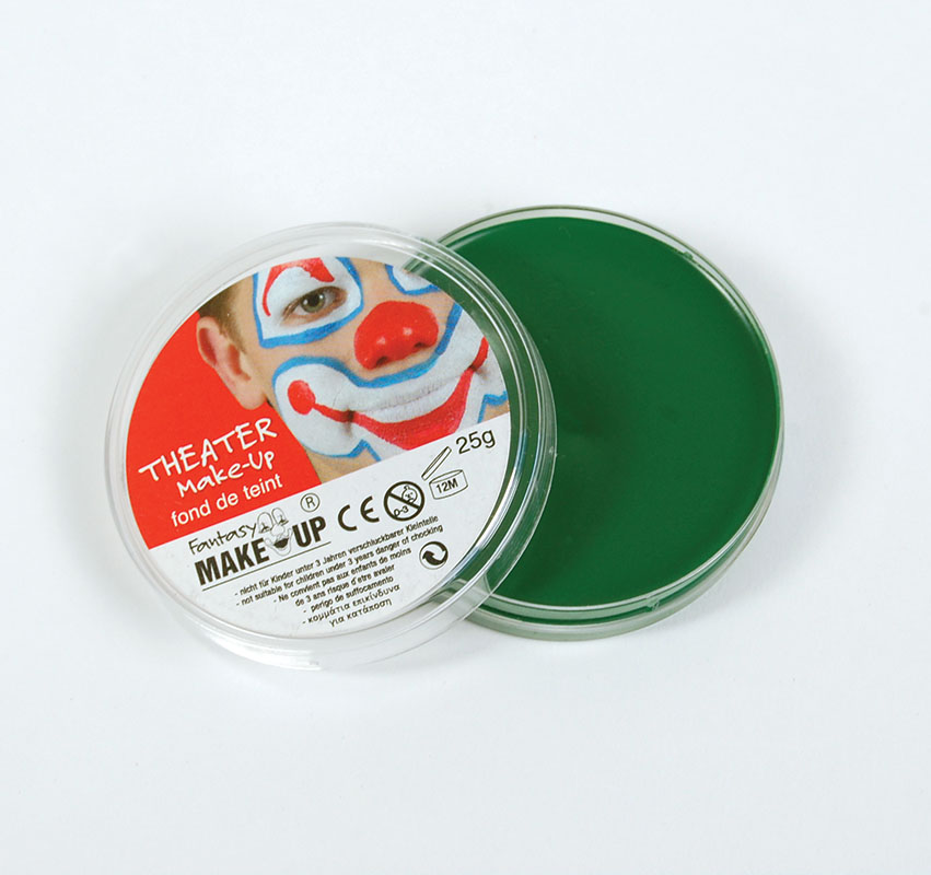 green greasepaint in compact